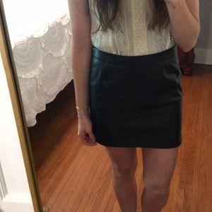 "Black skirt ""leather"""